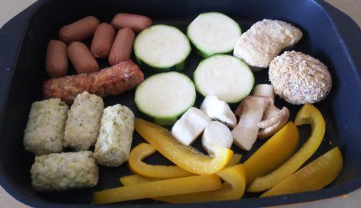生活クラブの冷凍食材でお弁当作りは楽勝!グリルプレート一つで調理終了♪