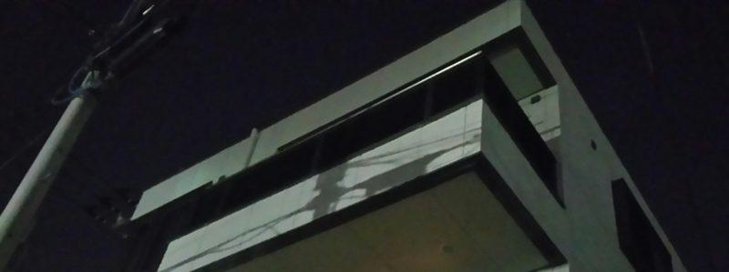 夜でも我が家が見える!外壁を白にしてよかった!