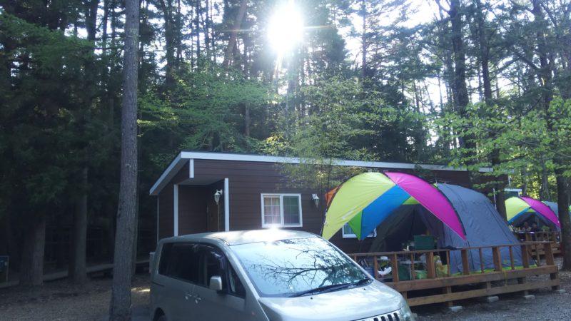 清水国明の森と湖の楽園のトレーラーハウスに2家族で2泊。とても綺麗だった!