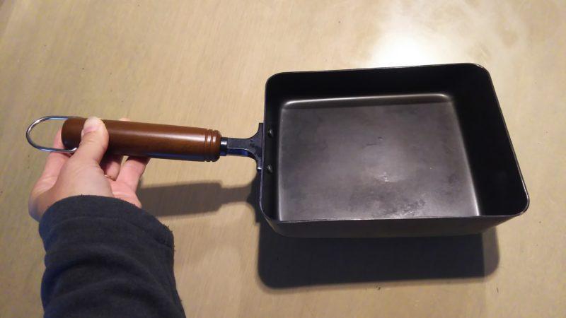 美味しい卵焼きを作るには、鉄のフライパンがベスト