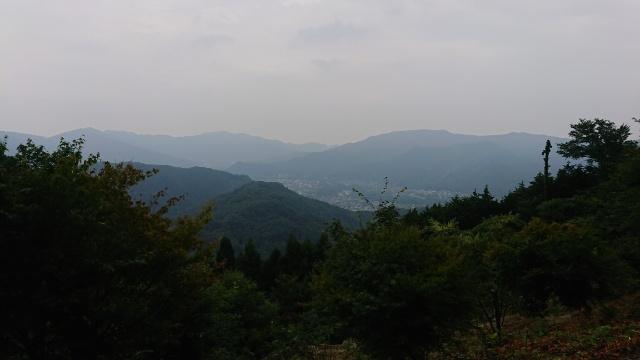 宝登山山頂からの眺め。