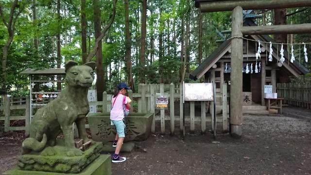 山頂付近の、宝登山神社奥宮。