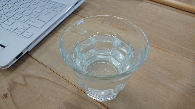 レモン水と真水の2種類。